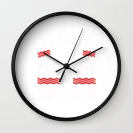 Tennis is the Bacon of Sports Funny Wall Clock