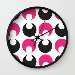 Rolling Eyes Magenta & Black Wall Clock