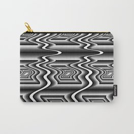 Grey Optical Pattern Carry-All Pouch
