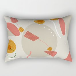 Balanced Connections | Modern art Rectangular Pillow