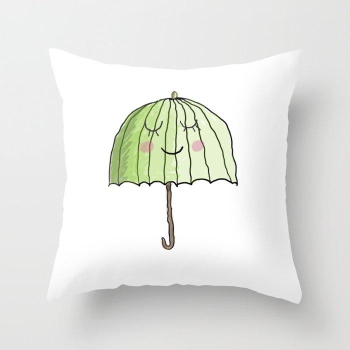 cute UMBRELLA Throw Pillow