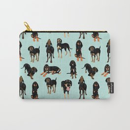 Black and Tan Coonhound Pattern Carry-All Pouch