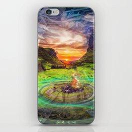 // Campfire Portals iPhone Skin