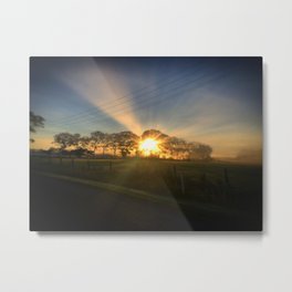 Future Bright Metal Print