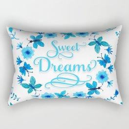Sweet Dreams - Blue Rectangular Pillow