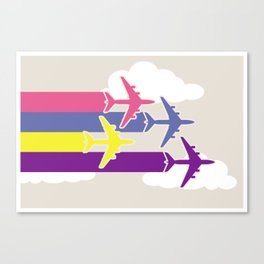 Colorful airplanes Canvas Print