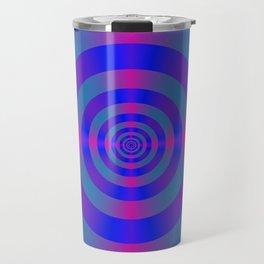 Blue Violet and Pink Target Travel Mug