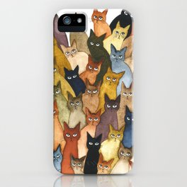 Many Whimsical Cats iPhone Case