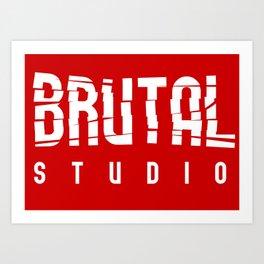 Brutal Studio Red Logo Art Print