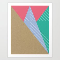 Cardboard & Combo Stripes Art Print