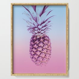 Light Blue and Pink Pineapple Serving Tray