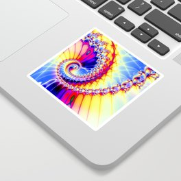 BBQSHOES™: Wu Wei Spiral Fractal Psychedelic Art Sticker