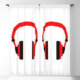 Pair Of Headphones Blackout Curtain