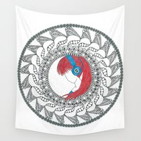 anime Wall Tapestries featuring Anime Mandala by Artzy