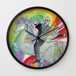Bernie Sanders Riding an Alacorn Wielding the Sword of Truth Wall Clock