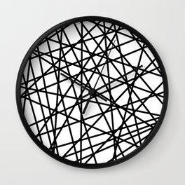 Lazer Dance Black on White Wall Clock
