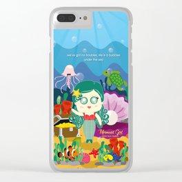 Mermaid Girl Clear iPhone Case