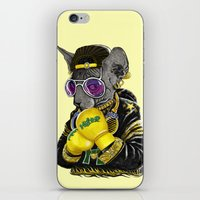hiphop iPhone & iPod Skins featuring Boxing Cat 3 by Tummeow