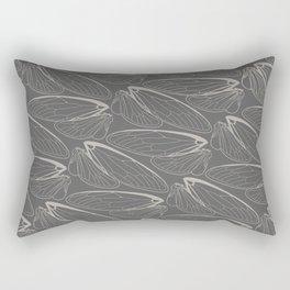 Magicicada Gray Rectangular Pillow
