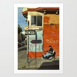 One Way Wheelchair - San Francisco, California Art Print