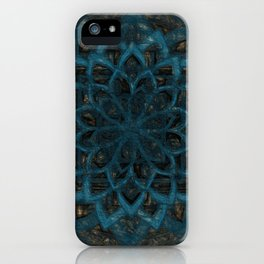 Mandala Blue Denim iPhone Case