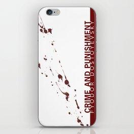 the classics .. blood splatter iPhone Skin