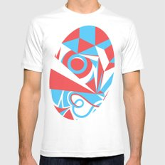 Crystal Landscape White MEDIUM Mens Fitted Tee