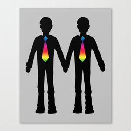 Gay Couple Holding Hands Canvas Print