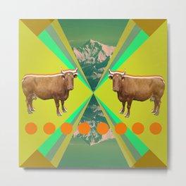 cow's reflexion Metal Print