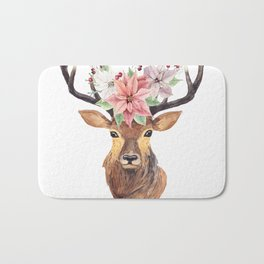 Winter Deer 3 Bath Mat
