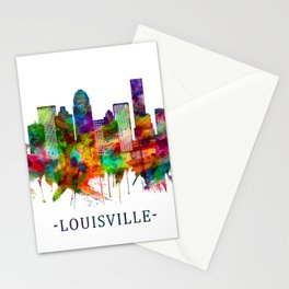 Louisville Kentucky Skyline Stationery Cards