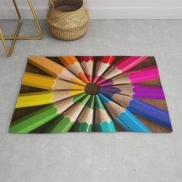 Wooden coloured pencils Rug