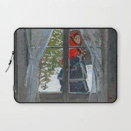 The Red Kerchief -1868–73 - By Claude Monet Laptop Sleeve
