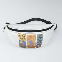 orange moon large Fanny Pack