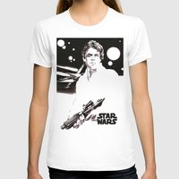 luke hemmings T-shirts featuring Luke Skywalker by Popp Art