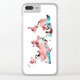 world map 72 Clear iPhone Case