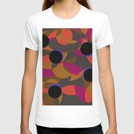 80s Classy Circle Retro Fashion Silk Shirt T-shirt