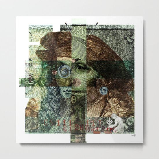 50 DM Collage Metal Print