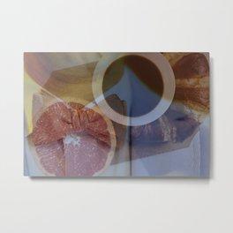 A Gentleman's Breakfast Metal Print