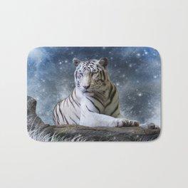 White Tiger Bath Mat