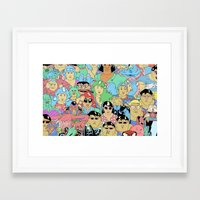 it crowd Framed Art Prints featuring Crowd by Joseph Falzon