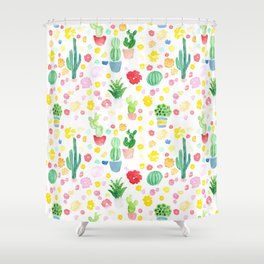 Cacti 1A Shower Curtain