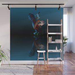 Kokopelli Flute Blue Wall Mural