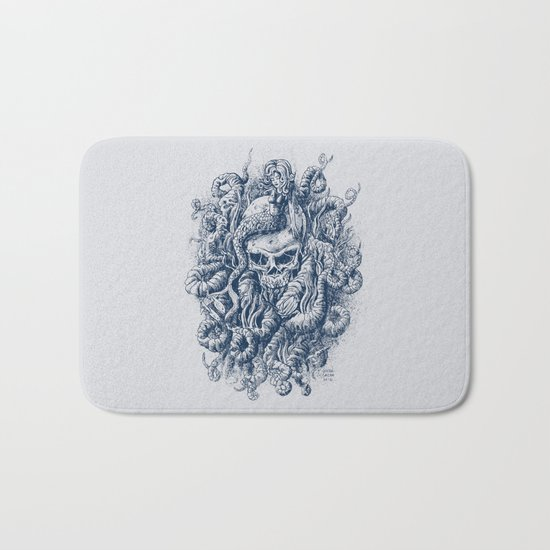 Mermaid Skull 2 Bath Mat