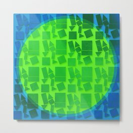 Geometric Shapes- Cool Tones Metal Print
