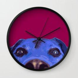 Dog nose, Pop art dog portrait Wall Clock