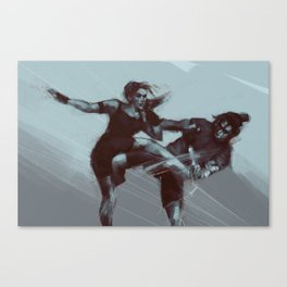 Sparring Session Canvas Print