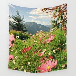 Summer Flower Field Wall Tapestry