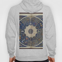 Horoscope from The book of birth of Iskandar (1411) - The Heavens on 25th April 1384 Hoody