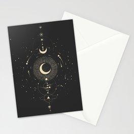 Mystic 94 Minimalist Line Illustration Schematic Astrology Zodiac Astrological Map Bohemian Boho Stars Stationery Cards